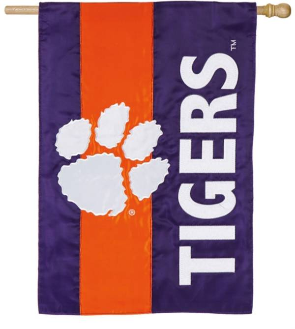 Evergreen Clemson Tigers Embellish House Flag product image