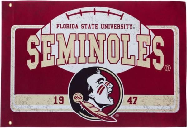 Evergreen Florida State Seminoles Linen Estate Flag product image