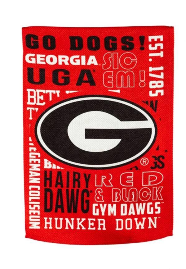 Evergreen Georgia Bulldogs Fan Rule House Flag product image