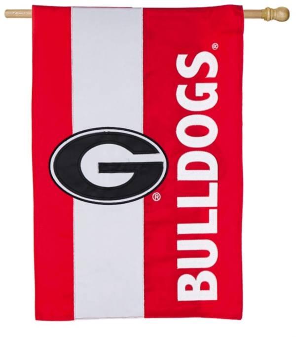Evergreen Georgia Bulldogs Embellish House Flag product image