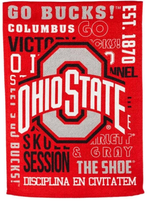 Evergreen Ohio State Buckeyes Fan Rule House Flag product image