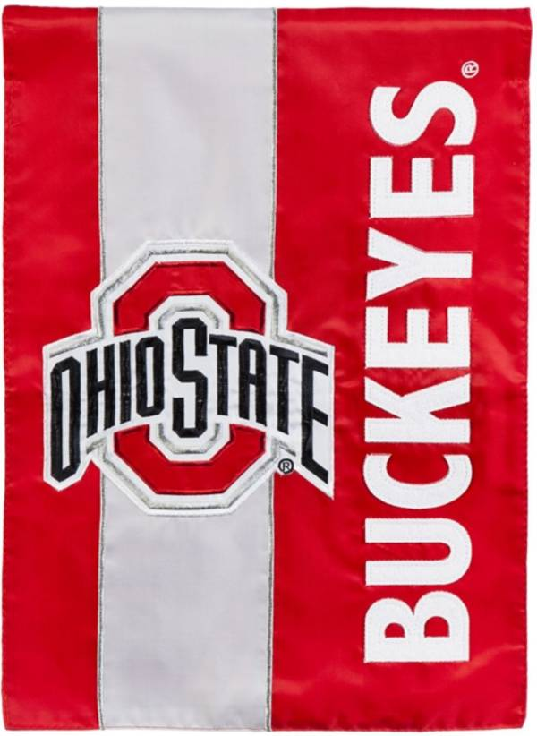Evergreen Ohio State Buckeyes Embellish Garden Flag product image