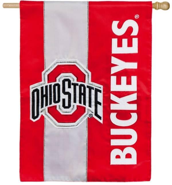 Evergreen Ohio State Buckeyes Embellish House Flag product image