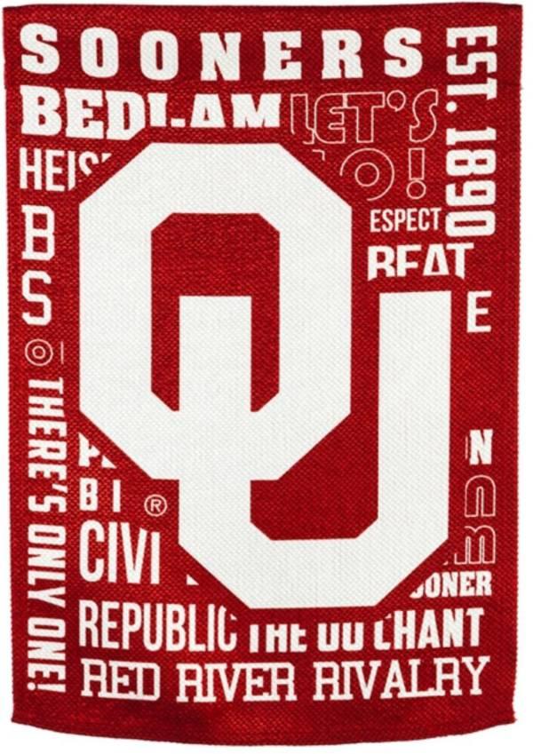 Evergreen Oklahoma Sooners Fan Rule Garden Flag product image