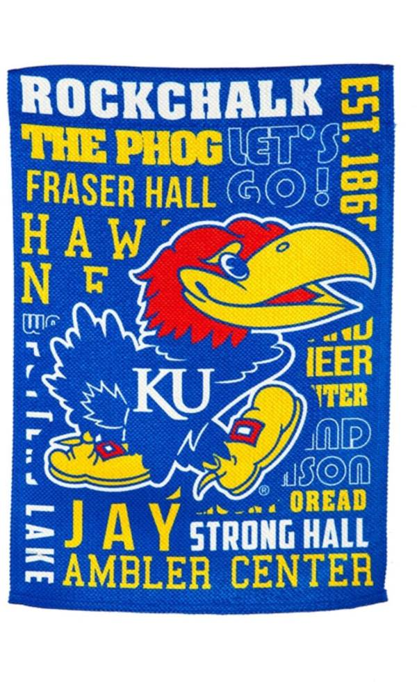 Evergreen Kansas Jayhawks Fan Rule House Flag product image