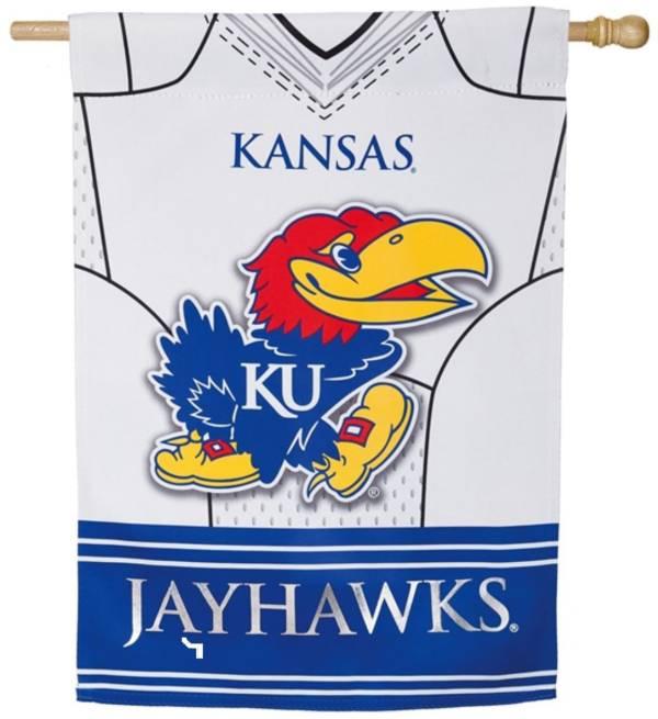 Evergreen Kansas Jayhawks Jersey House Flag product image