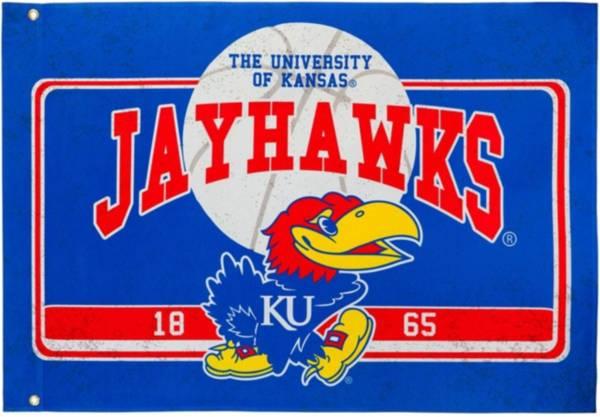 Evergreen Kansas Jayhawks Linen Estate Flag product image