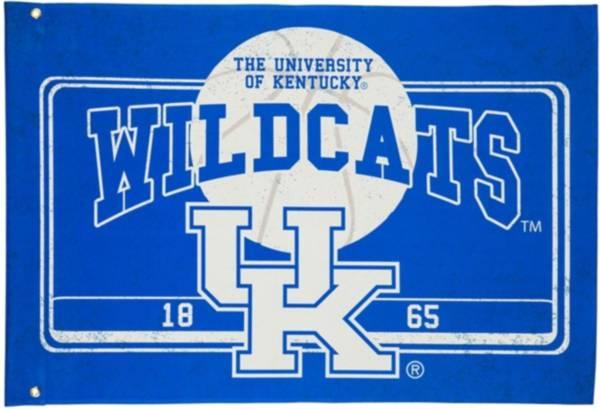 Evergreen Kentucky Wildcats Linen Estate Flag product image