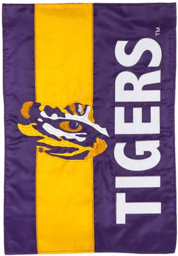 Evergreen LSU Tigers Embellish Garden Flag product image