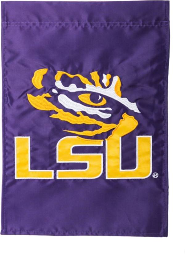 Evergreen LSU Tigers Applique Garden Flag product image
