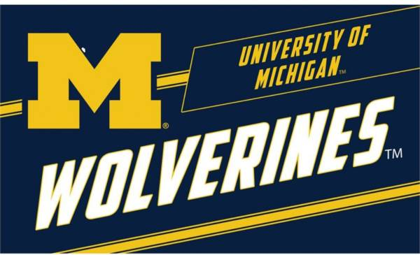 Evergreen Michigan Wolverines Coir Punch Mat product image