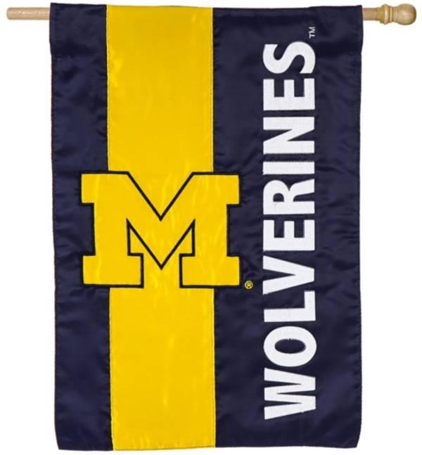 Evergreen Michigan Wolverines Embellish House Flag product image