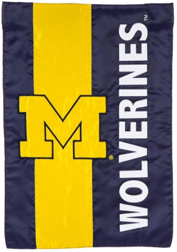 Evergreen Michigan Wolverines Embellish Garden Flag product image