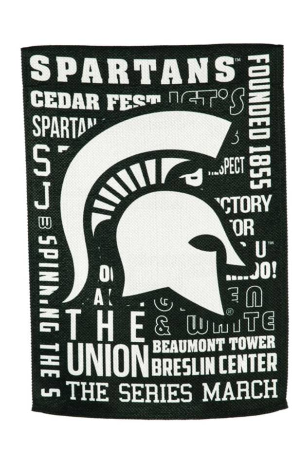 Evergreen Michigan State Spartans Fan Rule House Flag product image