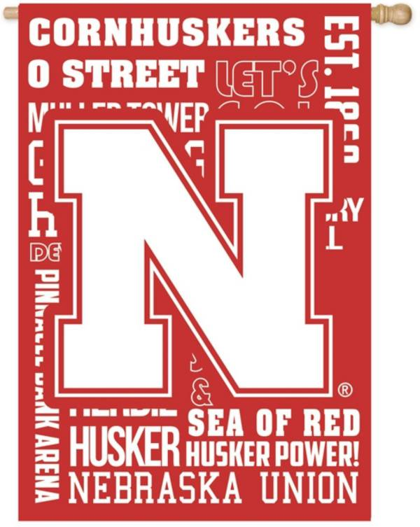 Evergreen Nebraska Cornhuskers Fan Rule House Flag product image