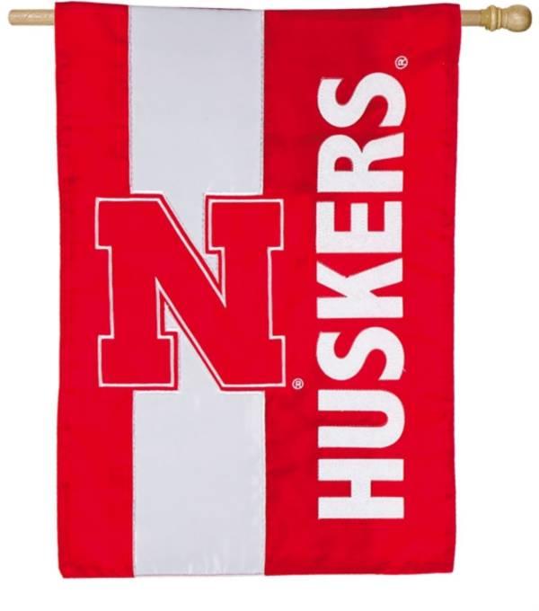 Evergreen Nebraska Cornhuskers Embellish House Flag product image
