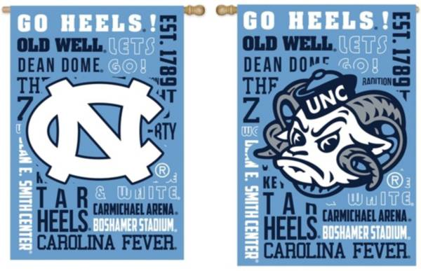 Evergreen North Carolina Tar Heels Fan Rule House Flag product image