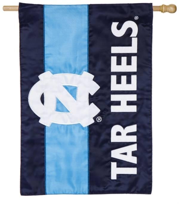 Evergreen North Carolina Tar Heels Embellish House Flag product image