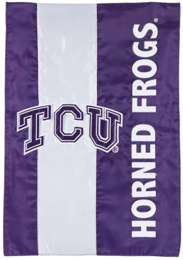 Evergreen TCU Horned Frogs Embellish Garden Flag product image