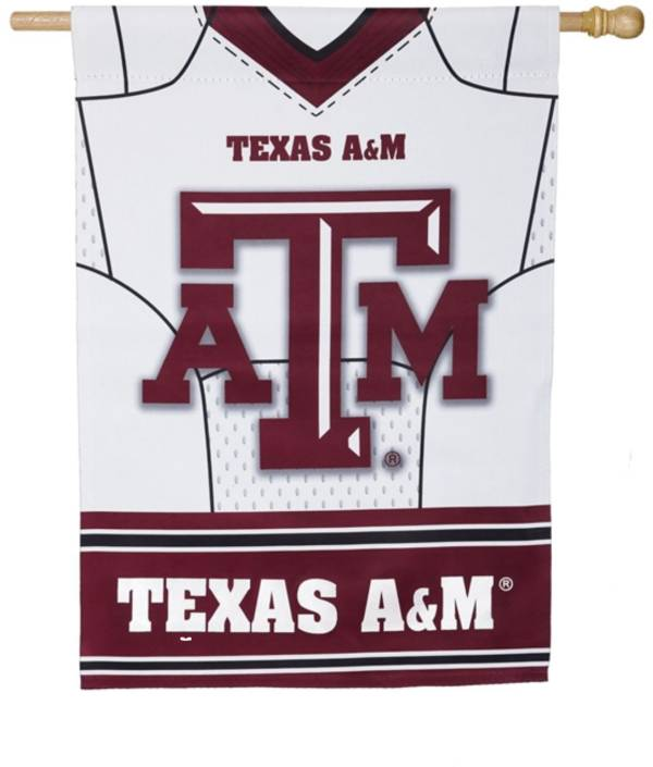 Evergreen Texas A&M Aggies Jersey House Flag product image