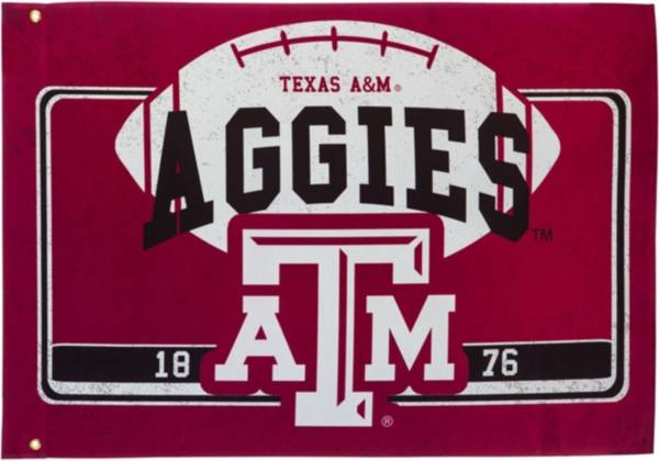 Evergreen Texas A&M Aggies Linen Estate Flag product image