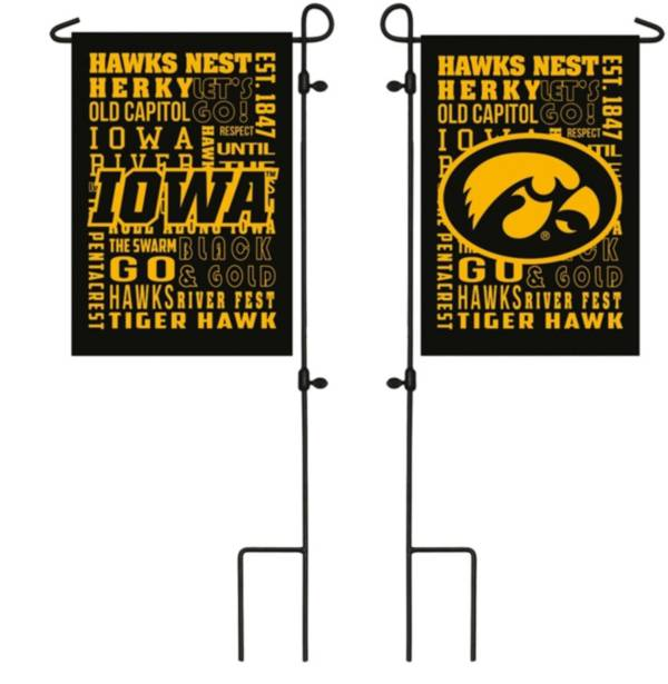 Evergreen Iowa Hawkeyes Fan Rule Garden Flag product image