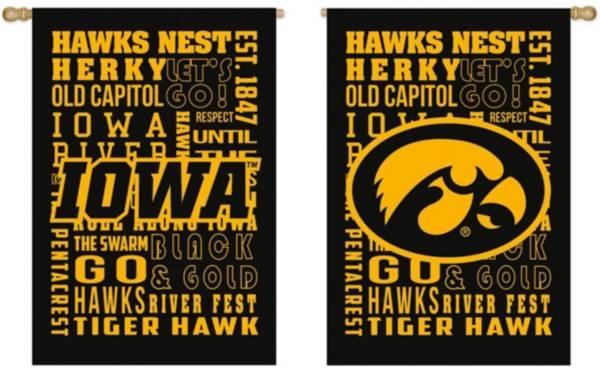 Evergreen Iowa Hawkeyes Fan Rule House Flag product image