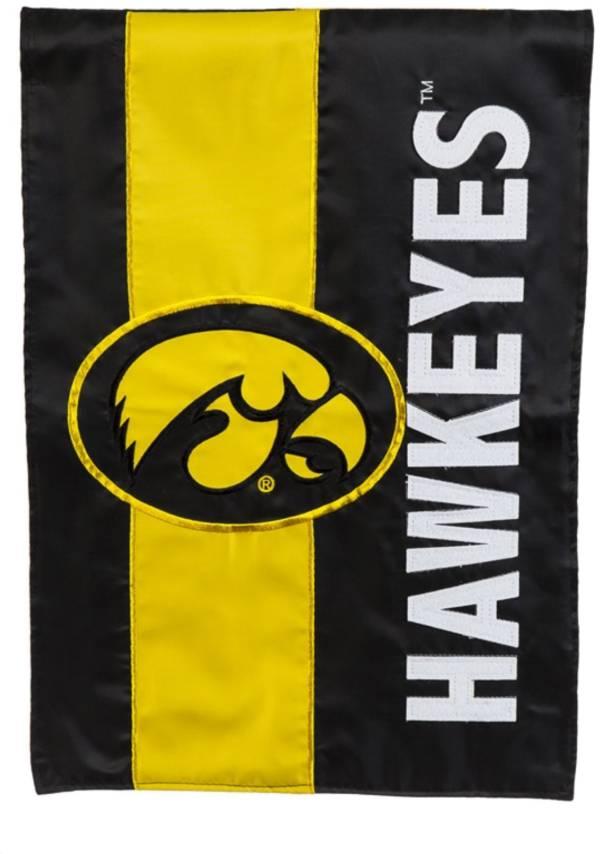 Evergreen Iowa Hawkeyes Embellish Garden Flag product image