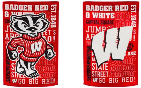 Evergreen Wisconsin Badgers Fan Rule Garden Flag product image