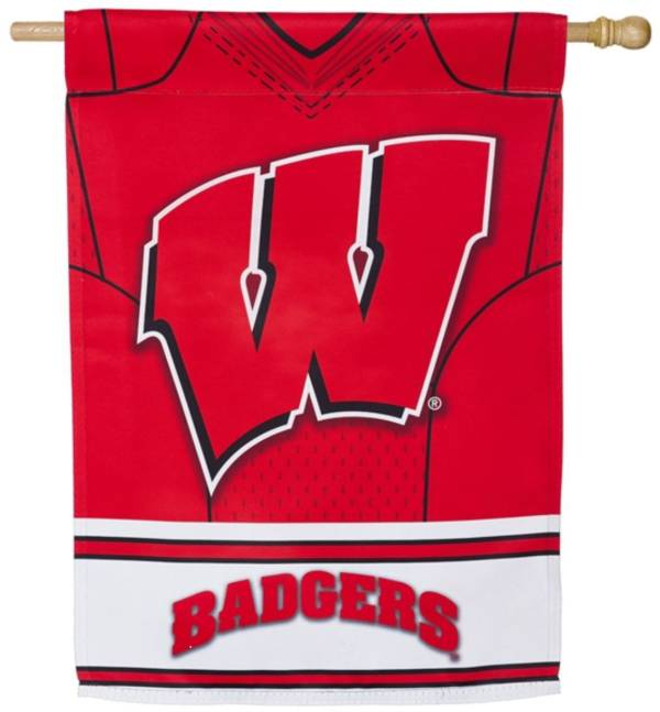 Evergreen Wisconsin Badgers Jersey House Flag product image