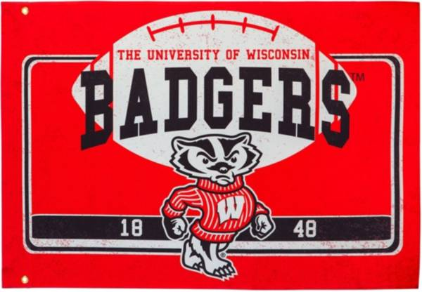 Evergreen Wisconsin Badgers Linen Estate Flag product image