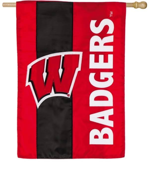 Evergreen Wisconsin Badgers Embellish House Flag product image