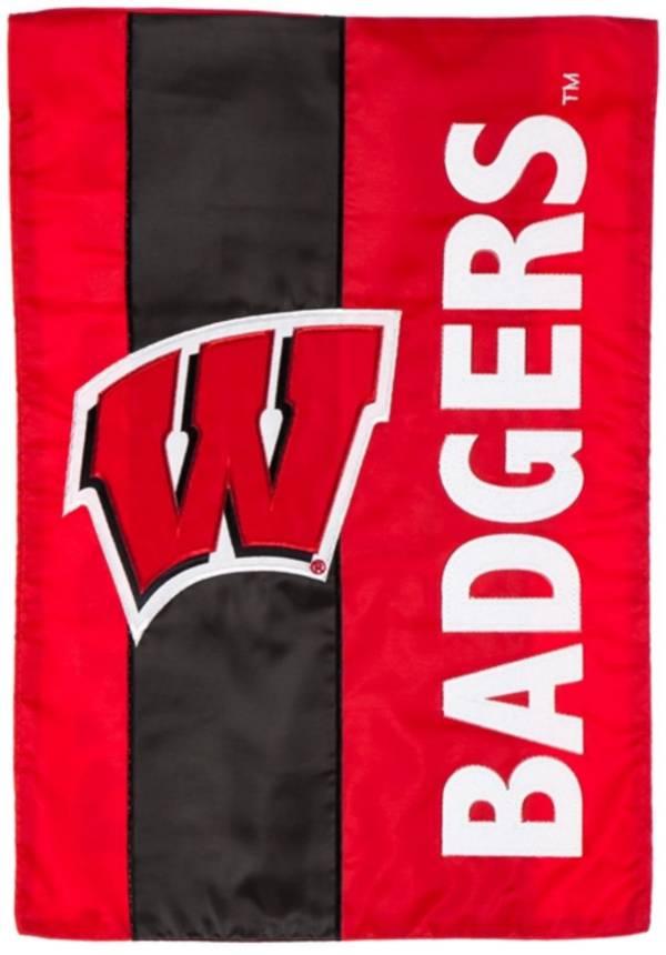 Evergreen Wisconsin Badgers Embellish Garden Flag product image