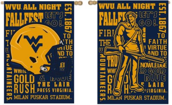 Evergreen West Virginia Mountaineers Fan Rule House Flag product image
