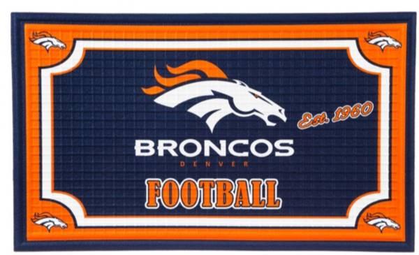 Evergreen Denver Broncos Embossed Door Mat product image