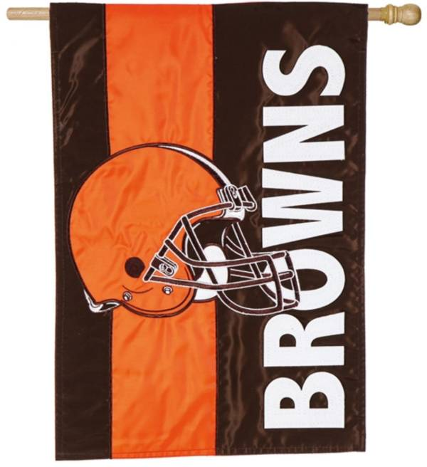 Evergreen Cleveland Browns Embellish House Flag product image