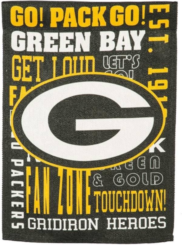 Evergreen Green Bay Packers Fan Rule Garden Flag product image