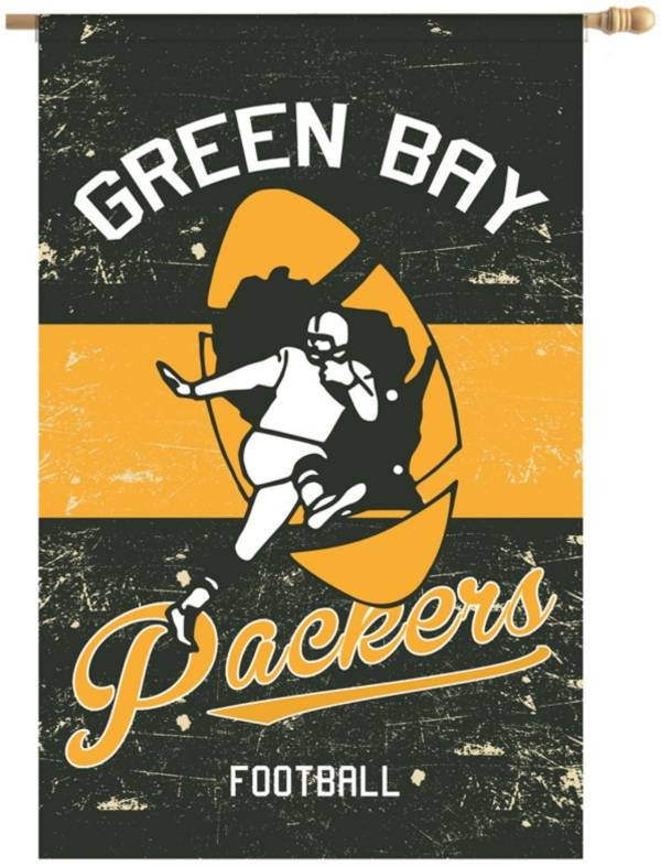 Evergreen Green Bay Packers Vintage House Flag product image