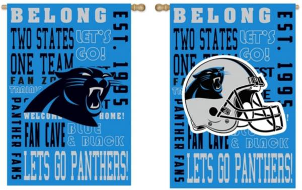 Evergreen Carolina Panthers Fan Rule House Flag product image