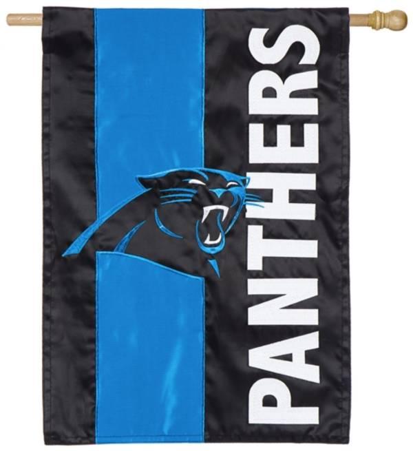 Evergreen Carolina Panthers Embellish House Flag product image