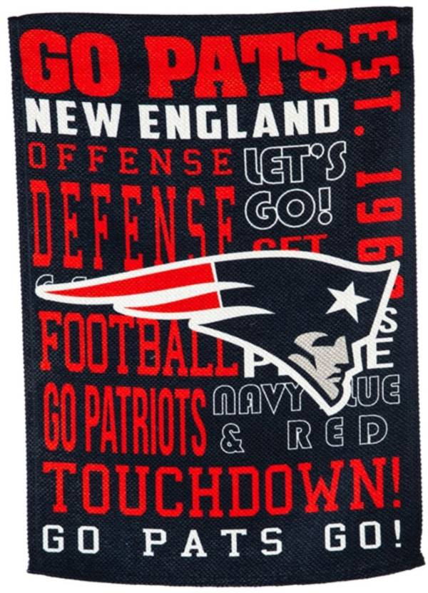 Evergreen New England Patriots Fan Rule Garden Flag product image