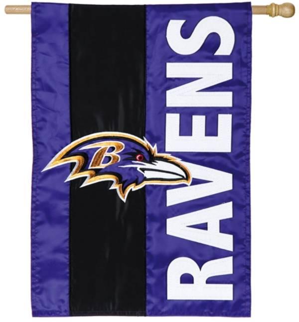 Evergreen Baltimore Ravens Embellish House Flag product image