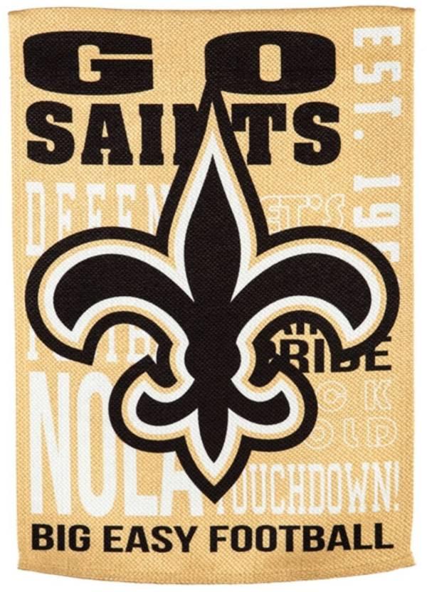 Evergreen New Orleans Saints Fan Rule Garden Flag product image