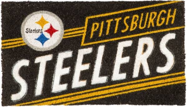 Evergreen Pittsburgh Steelers Coir Punch Mat product image