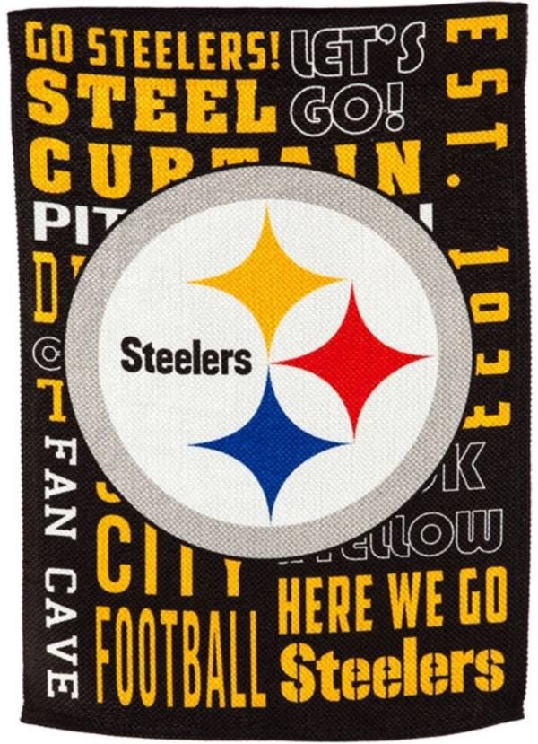 Evergreen Pittsburgh Steelers Fan Rule Garden Flag product image