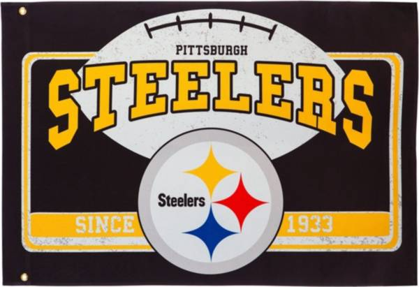 Evergreen Pittsburgh Steelers Linen Estate Flag product image