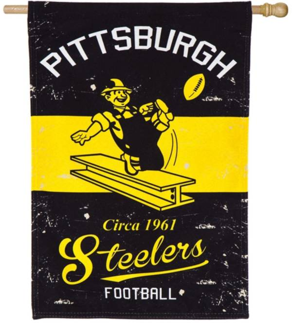 Evergreen Pittsburgh Steelers Vintage House Flag product image