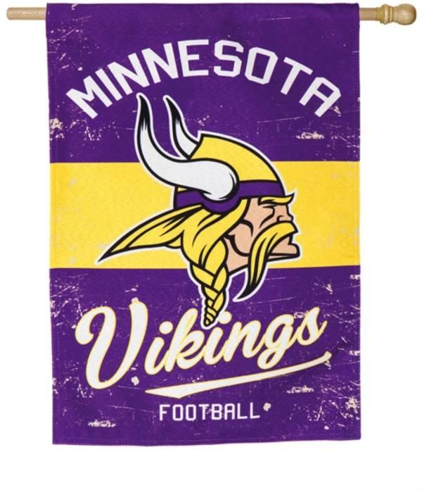 Evergreen Minnesota Vikings Vintage House Flag product image
