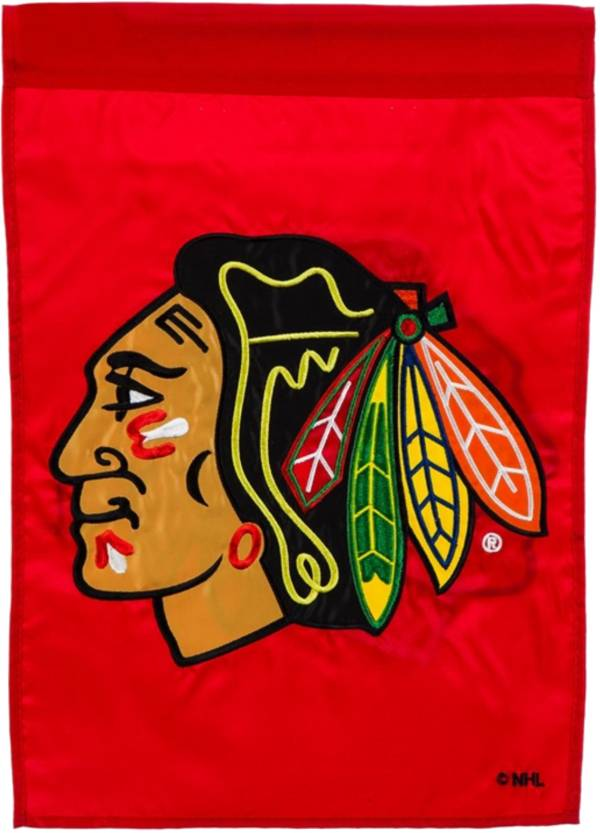 Evergreen Chicago Blackhawks Applique Garden Flag product image