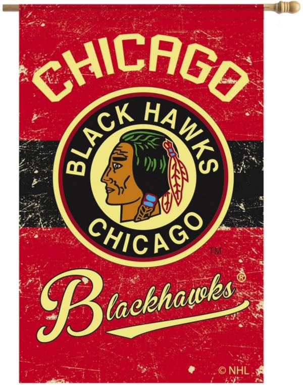 Evergreen Chicago Blackhawks Vintage House Flag product image